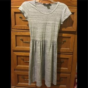 French Connection gray cotton short sleeve dress